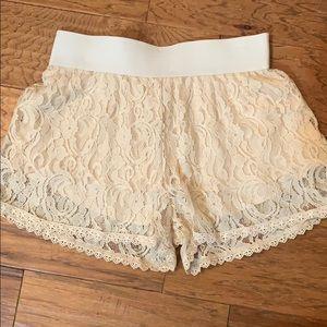 Women's crochet shorts